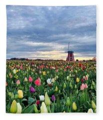 Ominous Spring Skies Fleece Blanket