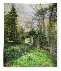 On A Spring Morning Fleece Blanket