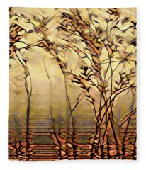 On An Untrodden Path Fleece Blanket