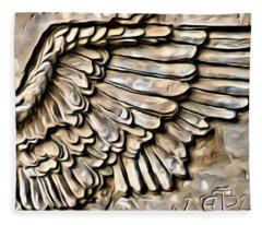 On Angels Wings Fleece Blanket