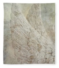 On Angels Wings 2 Fleece Blanket