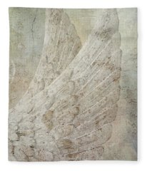 On Angels Wings Fleece Blanket