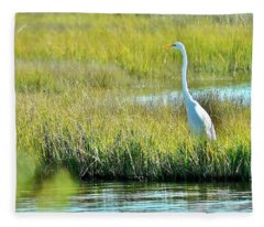 On Assateague Island Fleece Blanket