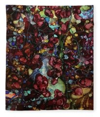 On Clustered Vine Fleece Blanket