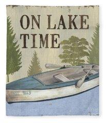 On Lake Time Fleece Blanket
