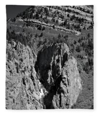 On Sandia Mountain Fleece Blanket