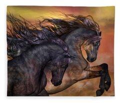 On Sugar Mountain Fleece Blanket