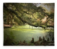 On Swamp's Edge Fleece Blanket
