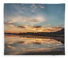 On The Banks Of The Nacote Fleece Blanket