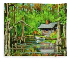 On The Bayou Fleece Blanket