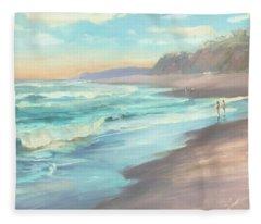 On The Beach Fleece Blanket