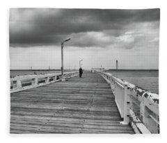 On The Boardwalk 2 Fleece Blanket