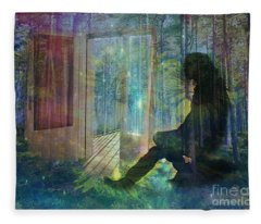 On The Edge Of Summerland 2015 Fleece Blanket