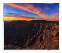 Fleece Blanket featuring the photograph On The Edge by Rick Furmanek