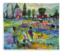 On The Farm Fleece Blanket
