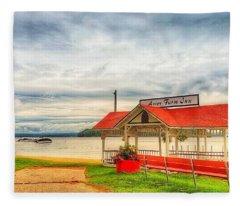 On The Lake Fleece Blanket