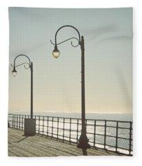On The Pier Fleece Blanket