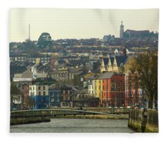 On The River Lee, Cork Ireland Fleece Blanket