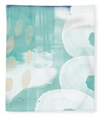 On The Shore- Abstract Painting Fleece Blanket