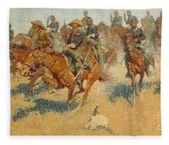 On The Southern Plains, 1907 Fleece Blanket