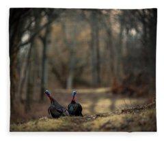 On The Woodlot Path Fleece Blanket