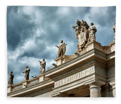 On Top Of The Tuscan Colonnades Fleece Blanket