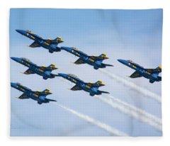 On Wings Like Eagles Fleece Blanket