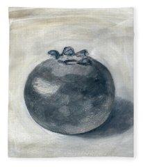 One Blueberry Fleece Blanket