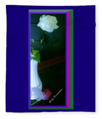 One Carnation And One Rose Bud Fleece Blanket
