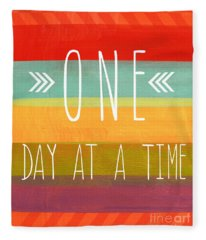 One Day At A Time Fleece Blanket