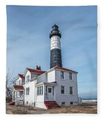 One Hundred Twelve Foot Lighthouse Tower Fleece Blanket