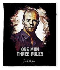 One Man Three Rules - Transporter Fleece Blanket