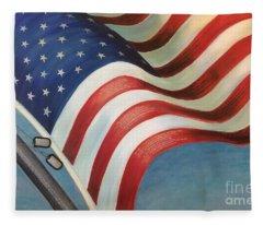 One Nation Under God Fleece Blanket