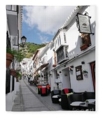 one of the most photographed streets in Spain Fleece Blanket