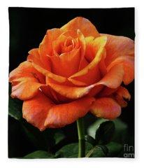 One Perfect Rose Fleece Blanket