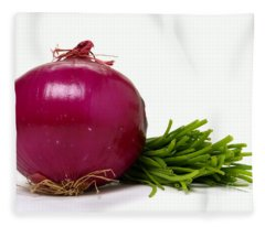 Onion And Chives Fleece Blanket