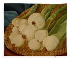Onions Fleece Blanket
