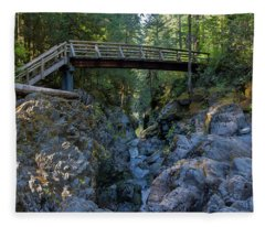Opal Creek Bridge Fleece Blanket