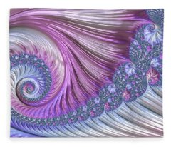 Opal Nautilus Fleece Blanket