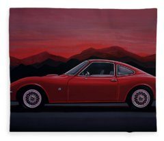 Opel Gt 1969 Painting Fleece Blanket