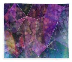 Open Geometric Fleece Blanket