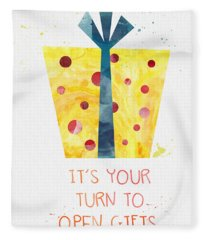 Open Gifts- Card Fleece Blanket