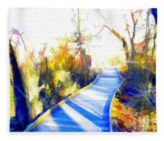 Open Pathway Meditative Space Fleece Blanket