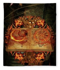 Open The Book Of The Occult Fleece Blanket