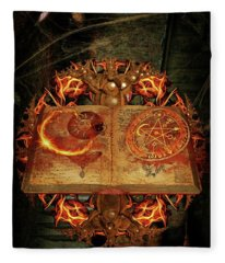 Open The Book Of The Occult Fleece Blanket