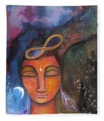 Open Your Mind To Infinite Possibilities Fleece Blanket