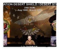 Operation Desert Shield/storm Fleece Blanket