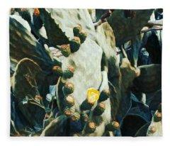 Opuntia Ficus Fleece Blanket