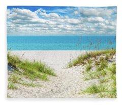 Orange Beach Al Seascape 1086a Fleece Blanket