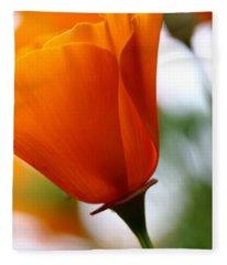 Orange California Poppy . 7d14789 Fleece Blanket